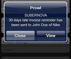 iPhone App And Push Notifications For SUBERNOVA