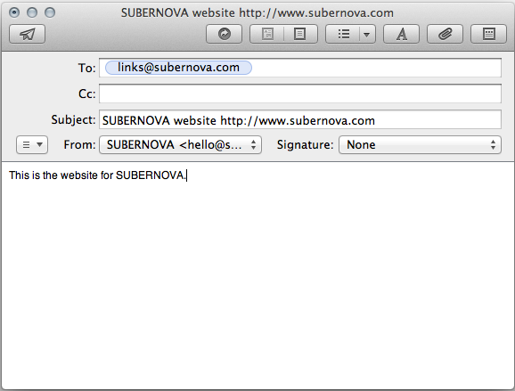 Create links via email subernova