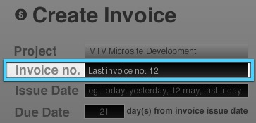 Last invoice number